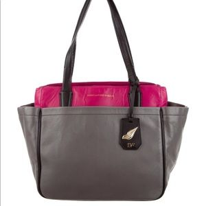 Diane Von Furstenberg On-The-Go Leather Tote Bag